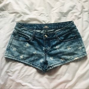 YMI • Star Print Denim Shorts